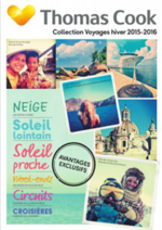 Catalogues et collections Thomas Cook : Catalogue Collection Voyages hiver 2015-2016