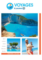 Catalogues et collections E.Leclerc voyages : Consultez la brochure Printemps - Été 2016