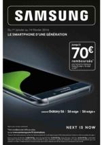 Bons Plans Téléphone Store : Jusqu'à 70€ remboursés sur le Samsung Galaxy S6