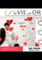 Prospectus Auchan : La vie en or St Valentin