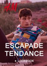 Catalogues et collections H&M : Lookbook homme Escapade tendance