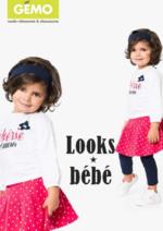 Catalogues et collections Gemo : Les looks bébé du moment