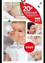 Promos et remises  : 20€ remboursés dès 60€ d'achat de produits NUK