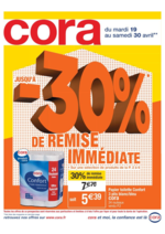 Prospectus Cora : Jusqu'à 30% de remise immédiate