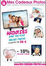 Promos et remises PUBLICEO : -10% de remise sur nos ARDOISES PHOTO