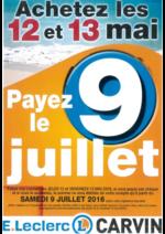Promos et remises  : Achetez les 12 et 13 mai, payez en juillet
