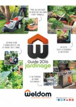 Guides et conseils Weldom : Guide jardinage 2016