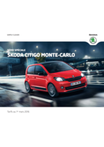 Catalogues et collections Skoda : Série Spéciale: Skoda Citigo Monte-Carlo