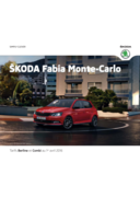 Catalogues et collections Distributeurs Skoda PARIS : La Skoda Fabia Monte-Carlo