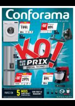 Prospectus Conforama : KO sur les prix ! Spécial techno