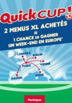 Bons Plans Quick : 2 menus XL achetés = 1 chance de gagner 1 week-end en Europe