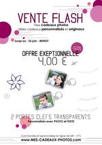Promos et remises  : Vente Flash : 4 € les 2 porte-clefs personnalisés