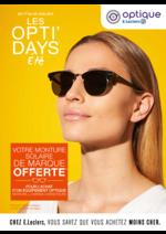Prospectus Optique E.Leclerc : Les opti'days été