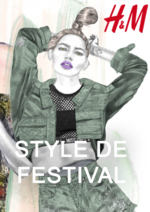 Catalogues et collections H&M : Lookbook femme style de festival
