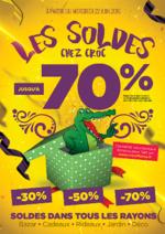 Promos et remises  : Les Soldes jusqu'à -70%