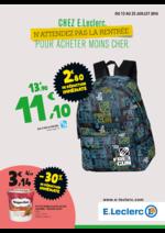 Prospectus E.Leclerc : Chez E.Leclerc, n'attendez pas la rentrée pour acheter moins cher