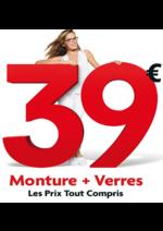 Bons Plans Optic 2000 : Monture + verre à 39€
