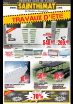 Promos et remises  : TRAVAUX D'ÉTÉ