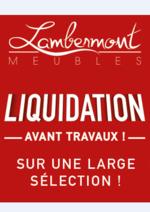Promos et remises  : Liquidation avant travaux