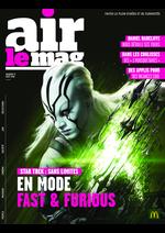 Journaux et magazines Mc Donald's : Air le Mag du mois d'Août 2016