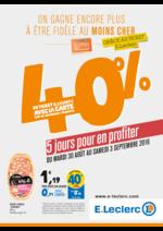 Prospectus E.Leclerc : 40% en ticket E.Leclerc avec la carte sur de nombreux produits