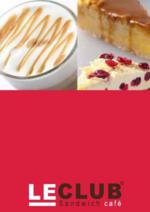 Menus Le Club Sandwich Café : Feuilletez la carte Gourmandises