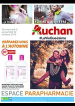 Prospectus Auchan : Parapharmacie Préparez-vous à l'automne