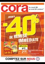 Prospectus Cora : Jusqu'à -40% de remise immédiate