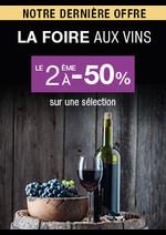 Promos et remises Monoprix : La foire aux vins, le 2ème à -50%