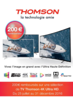 Bons Plans MDA : Thomson : 200€ remboursés