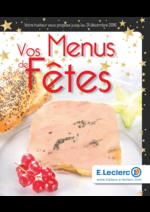 Menus E.Leclerc : Vos menus de fêtes
