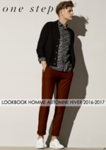 Catalogues et collections One Step : Lookbook homme automne hiver 2016-2017