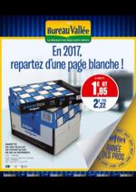 Prospectus Bureau Vallée : En 2017, repartez d'une page blanche !