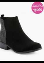 Promos et remises La Halle aux Chaussures : -30% sur les bottines avec motifs K by Kookaï