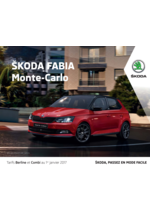 Promos et remises  : La Skoda Fabia monte carlo