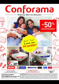 Folhetos Conforama Setúbal : Especial descanso até -50%