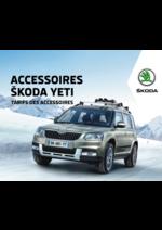 Tarifs Skoda : Tarifs des accessoires Skoda Yeti