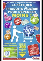 Prospectus Auchan : La fête des produits Auchan pour dépenser moins !