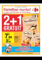 Prospectus Carrefour Market : 2+1 gratuit