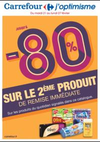 Prospectus Carrefour ANGERS Bd Gaston Ramon : Jusqu'à -80% sur le 2ème produit de remise immédiate