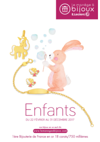 Catalogues et collections Le Manège à Bijoux E.Leclerc ANGERS : Le catalogue Enfants