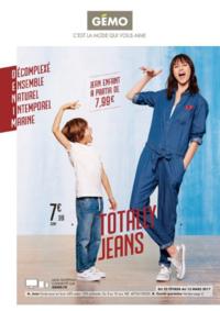 Prospectus Gemo EZANVILLE : Totally jeans