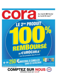 Prospectus Cora MASSY : Le 2ème produit 100% remboursé en €urocora