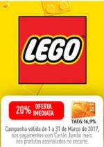 Promoções e descontos Jumbo : Encarte Lego - Oferta Imediata 20% Cartão Jumbo