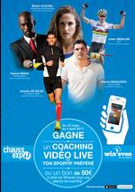 Jeux concours Chauss Expo : Gagne un coaching vidéo live avec ton sportif préféré !