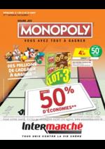 Prospectus Intermarché Super : Grand jeu Monopoly vous avez tout à gagner
