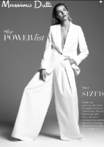 Catalogues et collections Massimo Dutti : The POWER list