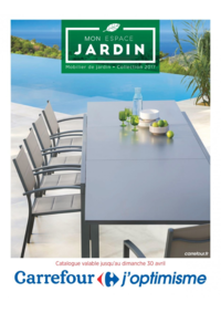 Prospectus Carrefour Drancy : Mobilier de jardin collection 2017