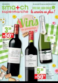 Prospectus Smatch Schaerbeek : Vins de printemps