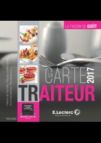 Menus E.Leclerc VILLEPARISIS : La carte traiteur 2017